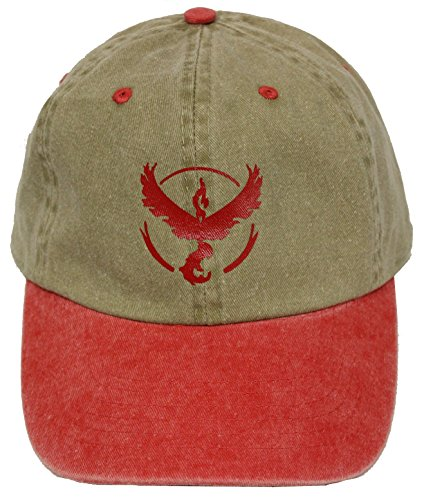 Pokemon Go Team Valor Beige Red Strapback