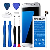 MAXBEAR Galaxy S7 Edge Battery, [3600mAh] Lithium Polymern Internal Battery Replacement for Samsung Galaxy S7 Edge SM-G935 EB-BG935ABE with Free Tool.[12 Month Warranty]