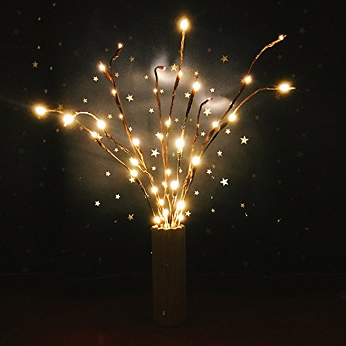 MIARHB Clearance! 30Inch 20LED Artificial Branches Branch Light Decorative Willow Lighting Twig Branch Lights Warm White Crafts Christmas Party Garden Decor (1PC, Yellow) by MIARHB (Image #6)