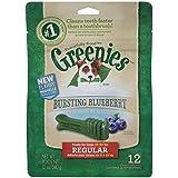 GREENIES Dental Dog Treats, Regular, Bursting Blueberry, 12 oz.