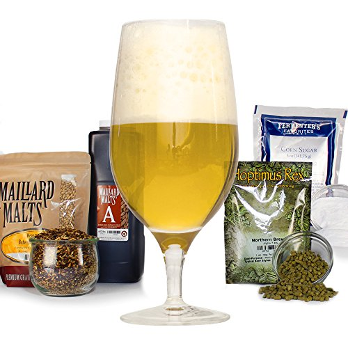 Belgian Strong Golden Malt Extract Light Ale - HomeBrewing Beer Brewing Recipe Kit - Making 5 Gallons Of Homemade Brew