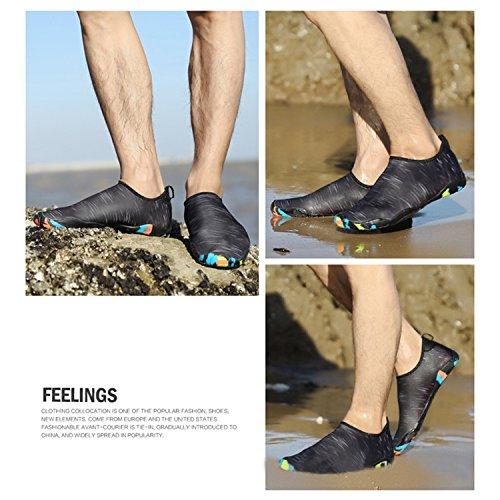 Sneldrogend Blootvoets Watersport Aqua Sok Schoenen Lichtgewicht Met Drainagegat Voor Strand, Zwemmen, Yoga, Meer, Rijden, Wateraerobics Plus Maat Zwart