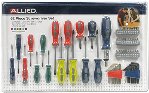 Allied Tools 66530 Screwdriver Set 62 Piece