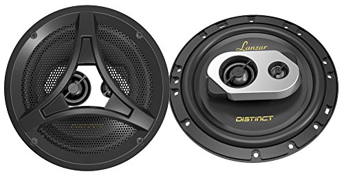 Lanzar DCT65.3 Distinct Series 6.5-Inch 200-Watt 2-Way Coaxial Speaker, Set of 2