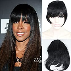 Brazilian Virgin Human Hair Extension for Women Clip-in Front Hair Bangs Full Fringe Short Straight Hair Extensions