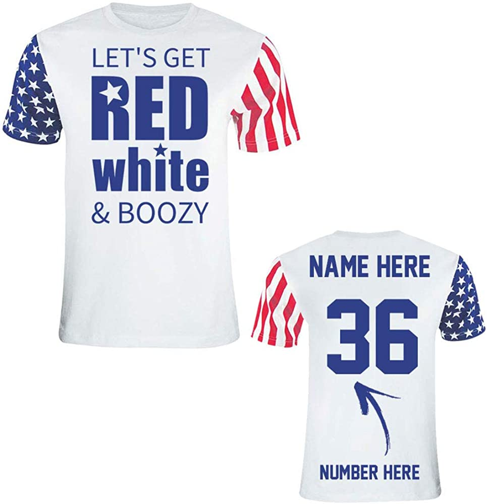 Custom 4th of July T Shirts & Jerseys - Cute Patriotic American Flag Outfits - Unisex