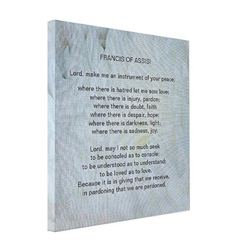 wonbye Art On Canvas St Francis of Assisi Prayer Canvas Print, Art Wall Decor 8 x 10 Inches