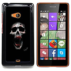 "Qstar Arte & diseño plástico duro Fundas Cover Cubre Hard Case Cover para Nokia Lumia 540 (Cráneo malvado"")"
