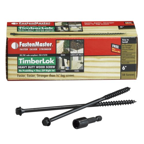 FastenMaster FMTLOK06-50 TimberLOK Heavy-Duty Wood Screw, 6 Inches, 50-Count by FastenMaster (Image #1)