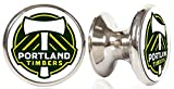Portland Timbers MLS Stainless Steel Cabinet Knobs / Drawer Pulls (2-pack)