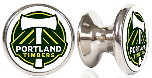Portland Timbers MLS Stainless Steel Cabinet Knobs / Drawer Pulls (2-pack) by ATOMK Pro Sports