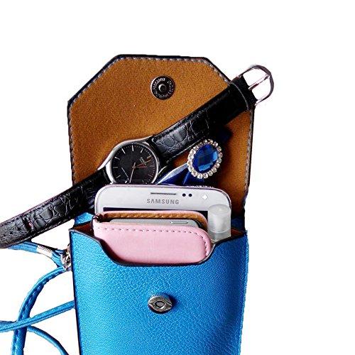 xhorizon TM Universal 6 pouces etui coque housse Case Sac à main à bandoulière Portefeuille en Pu cuir Messenger Bag voyageurs poche pour iPhone 4s / 5s Samsung S3 / S4 / S5 HTC One M8 LG G2 / G3 / L7