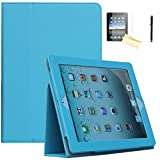 ipad air model number - iPad Air Case, iPad Air 2 Case - JYtrend (R) Folio Stand Magnetic Smart Cover for Apple iPad Air(2013 Release)/Air 2(2014 Release) with Auto Wake / Sleep (Blue)