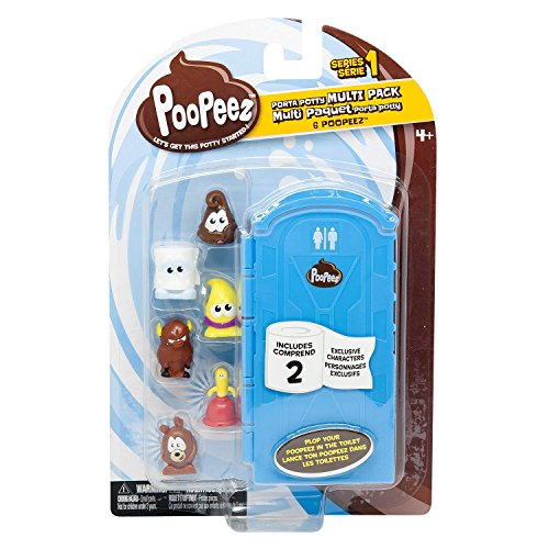 Poopeez Series 1 Porta Potty Multi Pack Squishy Collectible Toy