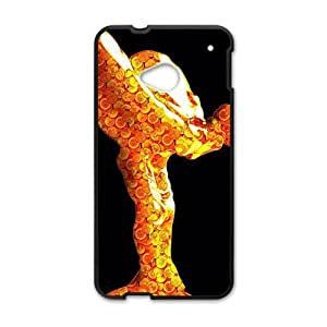 SANLSI Shiny goldeng Rolls-Royce sign fashion cell phone case for HTC One M7