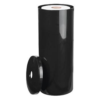mDesign portarrollos de pie - Elegante dispensador de papel de plástico resistente - Portarrollos baño para