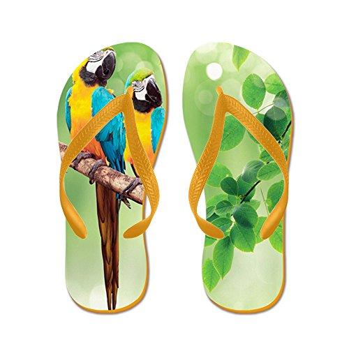 CafePress Macaws - Flip Flops, Funny Thong Sandals, Beach Sandals Orange