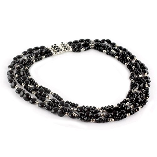 NOVICA Onyx .925 Sterling Silver Beaded  - Oxidized Black Onyx Necklace Shopping Results