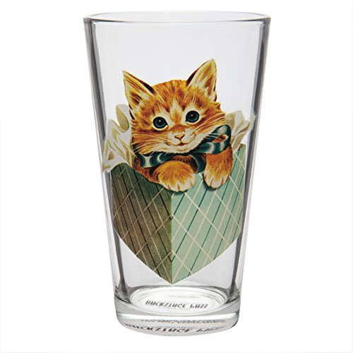 [Kitten in a Box Pint Glass] (Kitten Bear Costume)