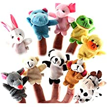 Yonger 10 pcs Baby Tiny Animal Farm Finger Puppet Toy Cloth Toddler Toys