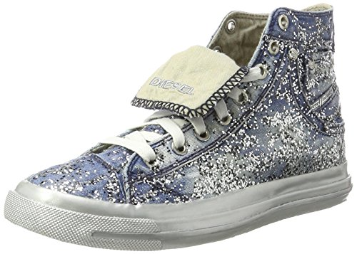 Diesel Womens Magnete Exposure IV W Sneaker Indigo Blue