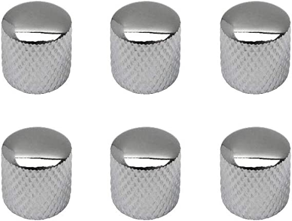 IKN 6pcs Metal Dome Knob Volume Tone Knobs for Electric Guitar Bass Part