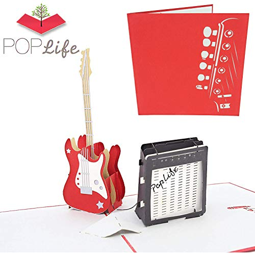 PopLife Guitar and Amp 3D Valentines Pop Up Card - Happy Birthday Pop Up Father