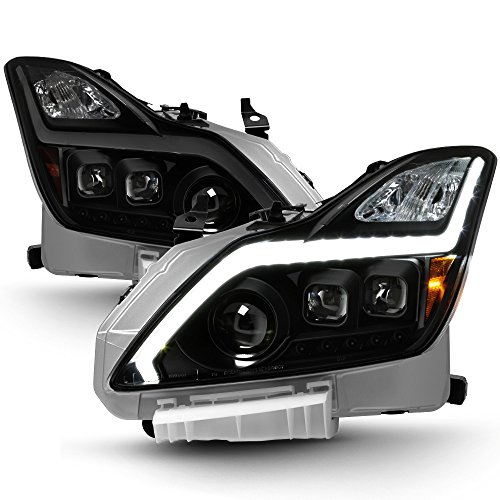 ACANII - For Black Smoke LED DRL Sequential Projector Headlights 2008-2015 G37/Q60 Coupe Driver + Passenger Side