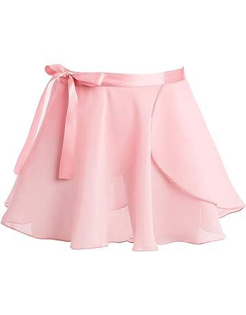 ff55d2baa71 Alvivi Enfant Fille Jupe de Danse Classique Gym Femme Jupe Courte Mousseline  Patineuse Jupe de Ballet