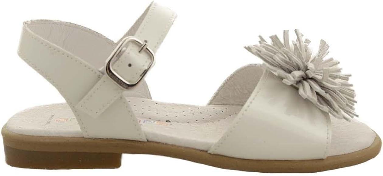 mitología ligado dinámica  Andanines Sandalias Niña Charol Blanco 26: Amazon.es: Zapatos y complementos