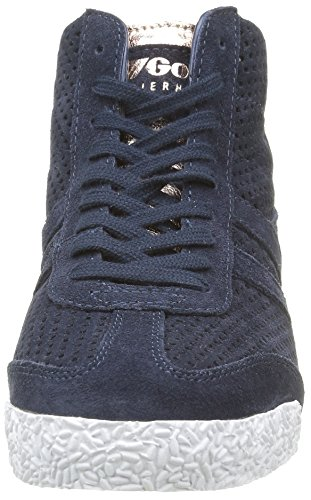 Gola Glimmer rose High navy Femme Basses Bleu Suede Baskets Harrier Gold BrB1wU