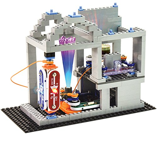 51Ekls15VrL - Snap Circuits BRIC: Structures ~ Brick and Electronics Exploration Kit | Over 20 STEM & Brick Projects | 4-Color Idea Book | 20 Snap Modules | 75 BRIC-2-SNAP Adapters | 140+ BRICs
