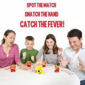 Family playing Spot it! Party