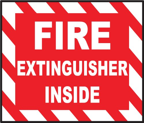 """Fire extinguisher inside sign sticker decal 5"""" x 4"""""""