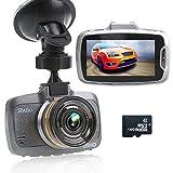 RAGU 2.7' LCD 170° 1080P HD Auto DVR Kamera Videorekorder mit 16GB TF Karte, Armaturenbrett Fahrt Camcorder, Nachtsicht, Automatische Loop-Zyklus Aufnahme, Bewegungserkennung, Fahrspur Abreise, Überwachung beim Parken