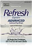 Refresh Optive Advanced Lubricant Eye Drops, 0.01 fl. oz each, 30 Count