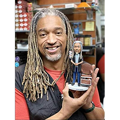 Male Guitar Player in Sandals and Jeans Custom Bobblehead Suit for Birthday Gift, Wedding Anniversary, Wedding Ceremony, Special Party: Toys & Games