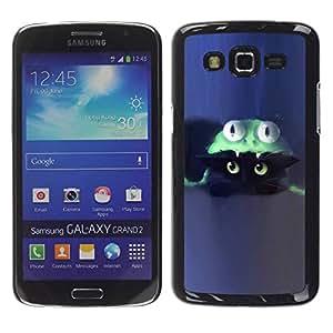 Paccase / SLIM PC / Aliminium Casa Carcasa Funda Case Cover para - Cat Costume Cute Blue Kitten - Samsung Galaxy Grand 2 SM-G7102 SM-G7105