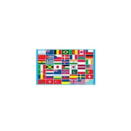 70 Nations Flag 5Ft X 3Ft Multi Nation International Country Banner New