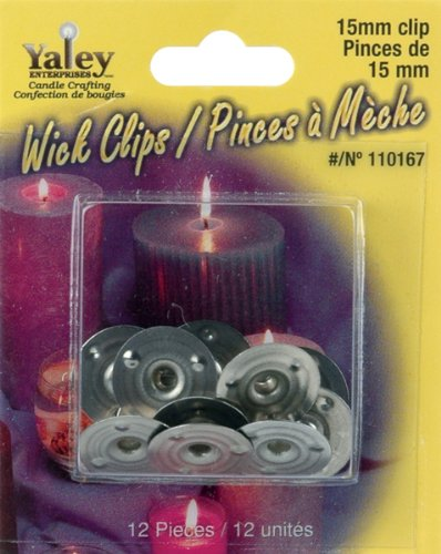 Yaley Candle Wick Clips 12/Pkg-15mm