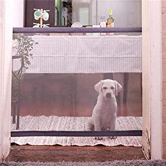 180 x 72cm. Schutzgitter Haustiere Nifogo Magic Gate Dog Safe Guard Treppenschutzgitter Faltbar Kunststoff Hund Safe Guard Trennwand Installieren /überall f/ür Hunde /& Katzen