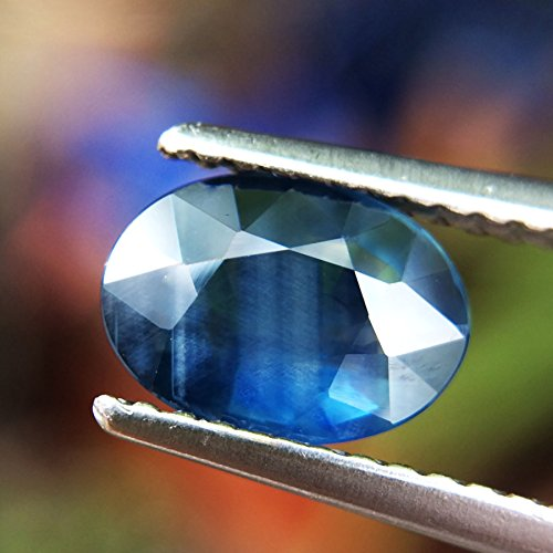 1.32ct Natural Oval Unheated Blue Sapphire Thailand #B by Lovemom (Image #3)