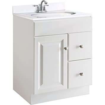Charmant Design House 545053 Wyndham White Semi Gloss Vanity Cabinet With 1 Door And  2