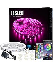 Wifi taśmy LED, LED RGB 5M JESLED Strip Kompatybilny z Alexa, Google Home, App, taśmy LED Muzycznej synchronizację, idealne na Boże Narodzenie, party, urządzanie wnętrz dla domu
