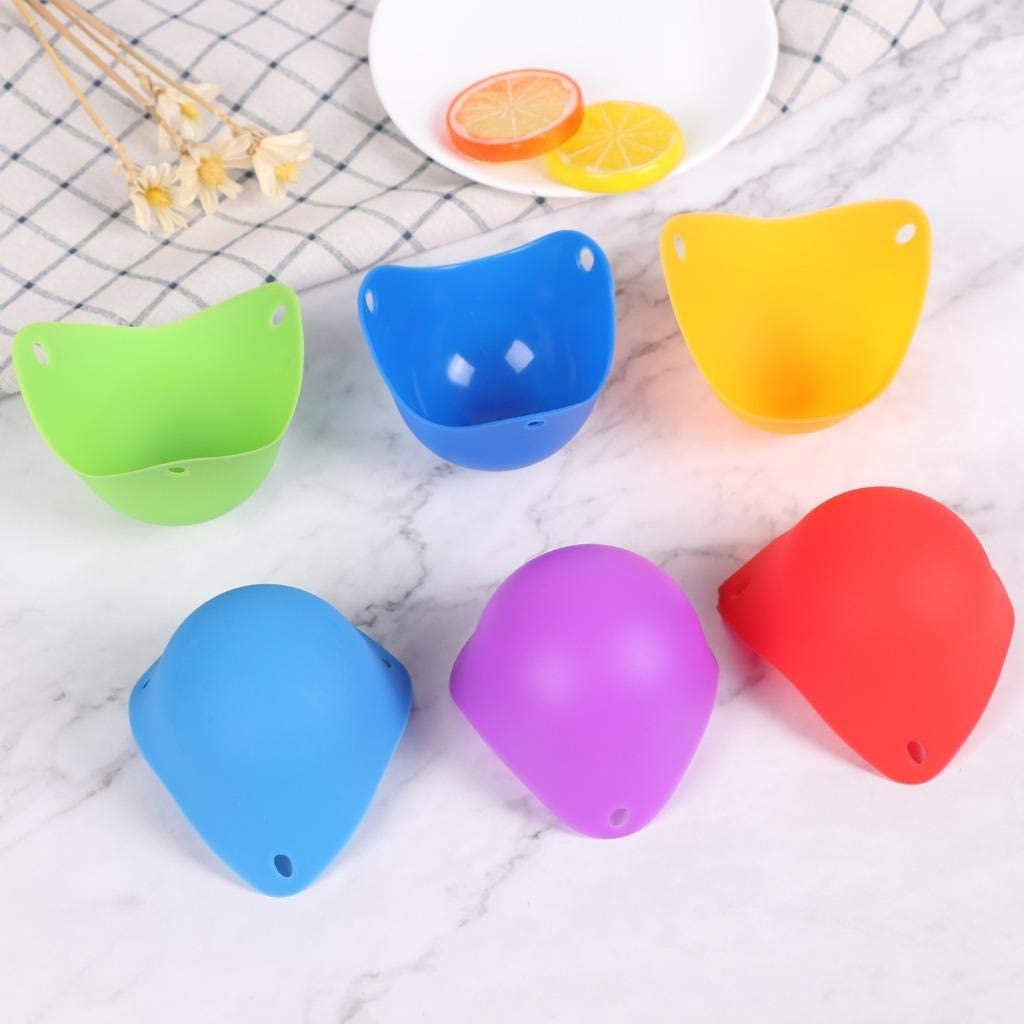 TIANTIAN 6Pack Silicone Egg Poaching Cups Egg Poacher Pan Poached Baking Cup Kitchen Cookware Tools BPA Free