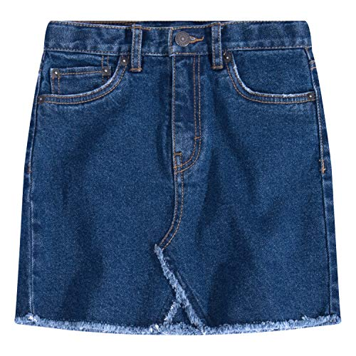 Levi's Girls' Big High Rise Denim Skirt, Richards, 7