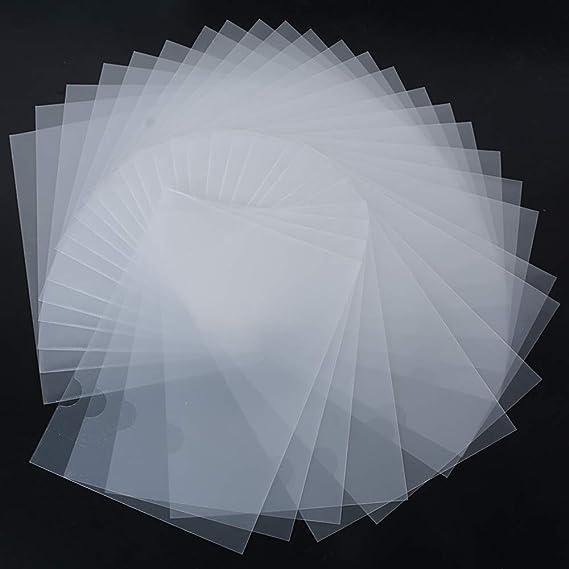 30pcs Carpeta Portafolios Transparente Plástico A4 Documentos Archivos - Parte Superior y Lateral Abiertos: Amazon.es: Oficina y papelería