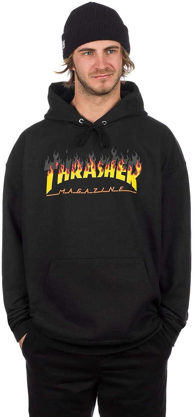 TALLA L. THRASHER BBQ Sudadera Capucha Hombre Negro