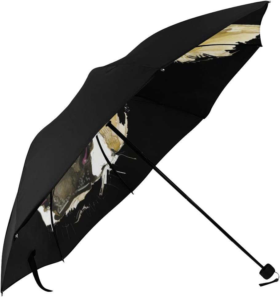 Men Travel Umbrella Winter Mountain Landscape With Houses Underside Printing Collapsible Travel Umbrella Uv Sun Umbrella With 95 Uv Protection For Women Men Lady Girl