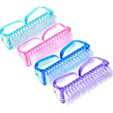 eBoot 4 Pieces Handle Nail Brush Nail Hand Scrubbing Cleaning Brush (Multicolor)